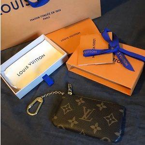 monogram key pouch